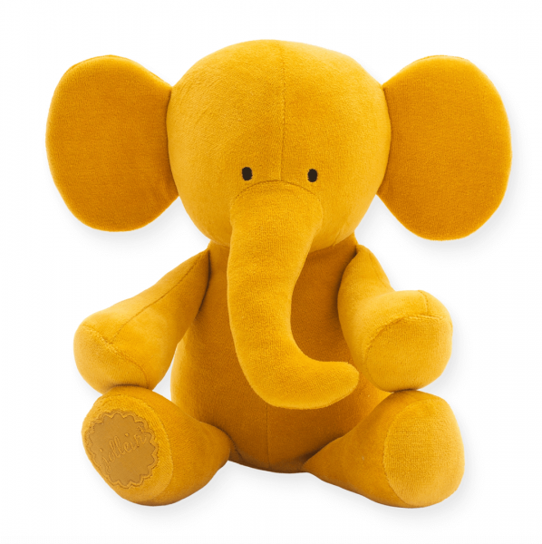 Kuscheltier Elefant senfgelb