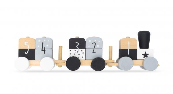 "Holzeisenbahn ""Zahlen"" grau"