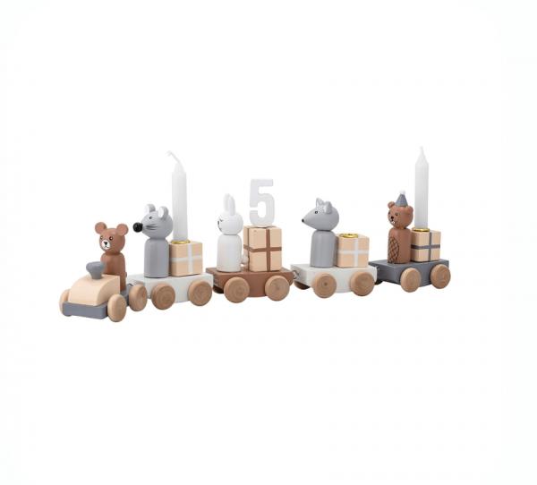 B-Ware Geburtstagszug aus Holz