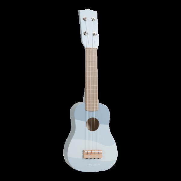Gitarre Blau aus Holz