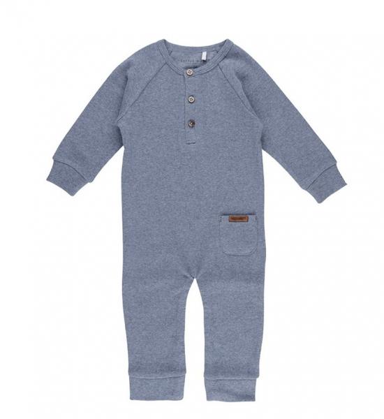 One-piece suit blue melange