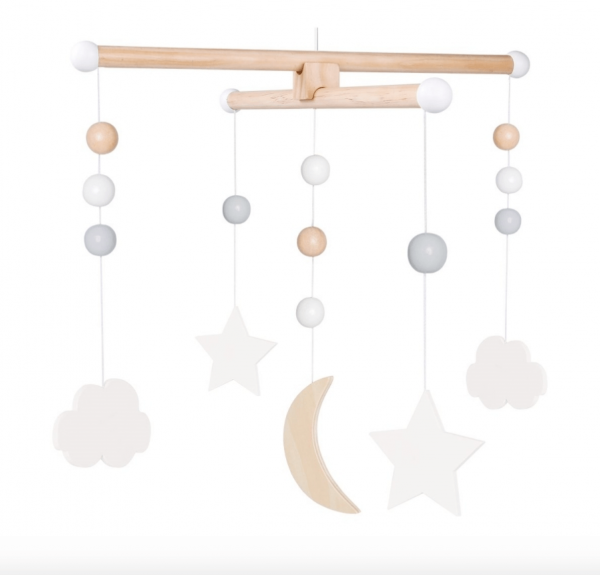 Babymobile aus Holz Sterne & Wolken