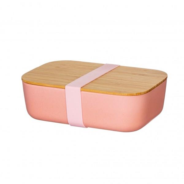 Lunchbox Bambus (personalisiert) pink