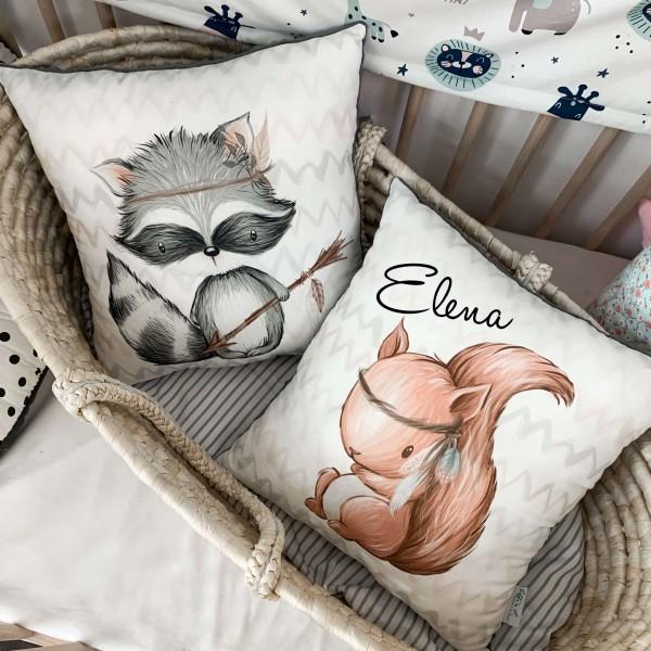 Kissen mit verschiedenen Prints