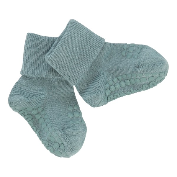 "Antirutsch- Socken ""dusty blue"" Bamboo 6-12m"