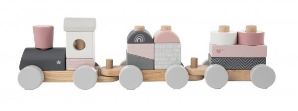 Personalisierter Zug mit Bausteinen Rosa