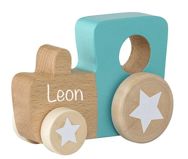 Spielzeug Auto Holz nature/grün