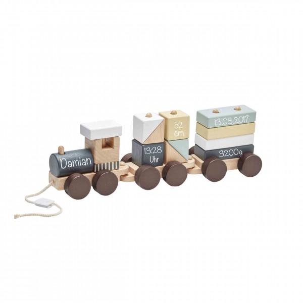 Zug mit Holzklötzen