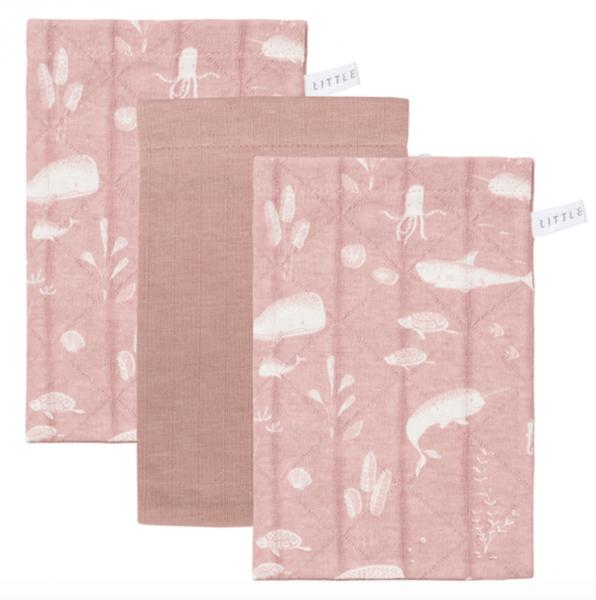 Waschlappen 3er Set Ocean Pink