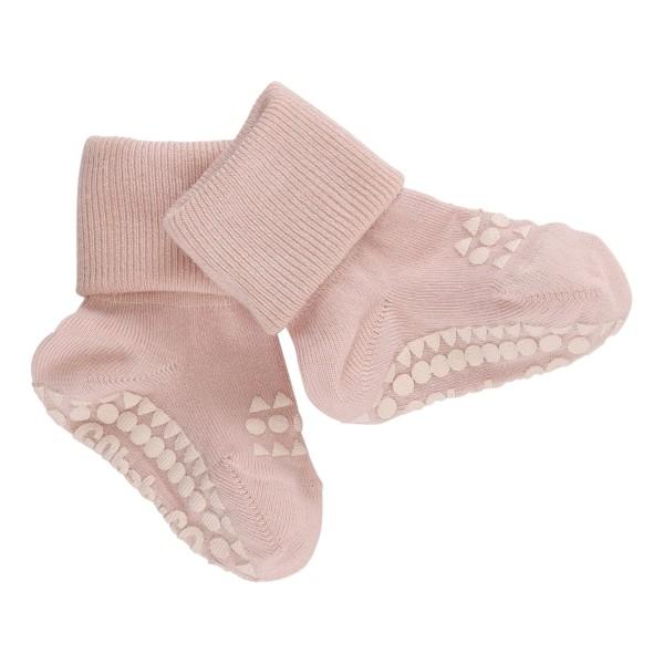 """Antirutsch- Socken """"soft pink"""" Bamboo 6-12m"""