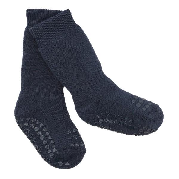 """Antirutsch- Socken """"navy blue"""" 6-12m"""
