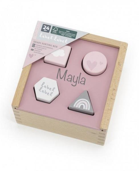 Steckspiel rosa (personalisierbar)
