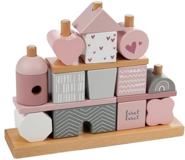 Steckspiel Haus Rosa (personalisierbar)