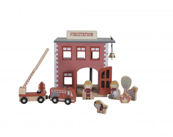 Feuerwehr Station Erweiterungs Set für die Holzeisenbahn