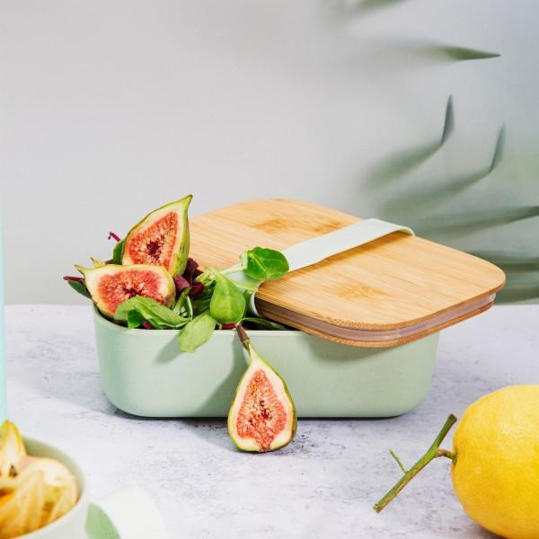 Lunchbox Bambus (personalisiert) mintgrün