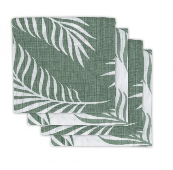 """Mullwindeln Set """"Nature"""" grün/weiß"""