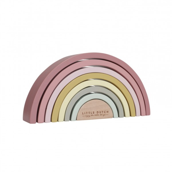 Regenbogen Holzpuzzle rosa