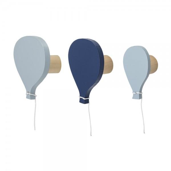 Wandhaken/Kleiderhaken Ballons blau