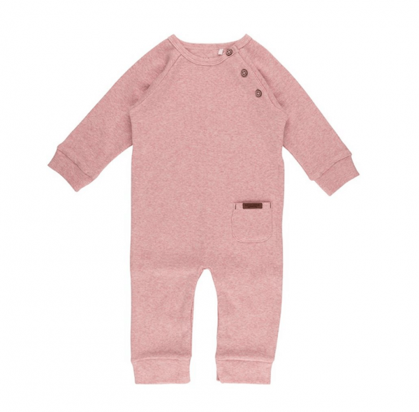 One-piece suit pink melange