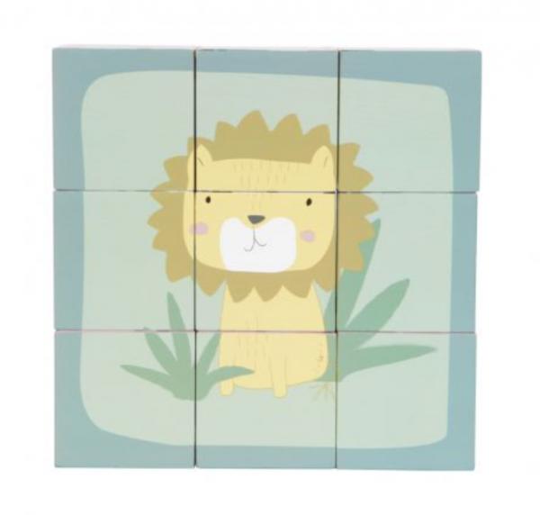 Würfelpuzzle Zoo Holz