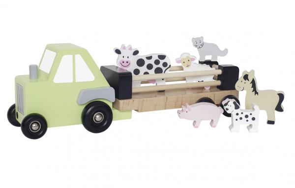 Traktor mit Anhänger & Tieren