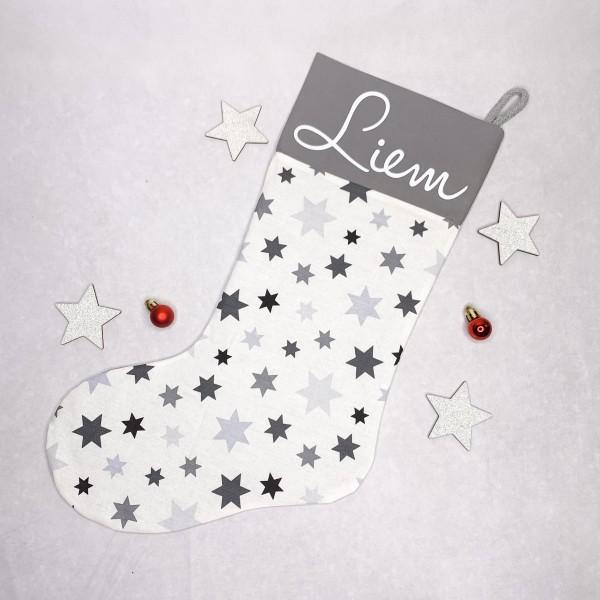 Personalisierter Nikolausstiefel Handmade Sterne
