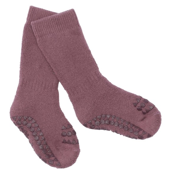 "Antirutsch- Socken ""misty plum"" 6-12m"