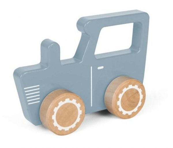 Holz Traktor Blau