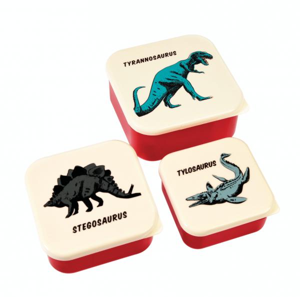 Snack Boxen 3er-Set Dinos