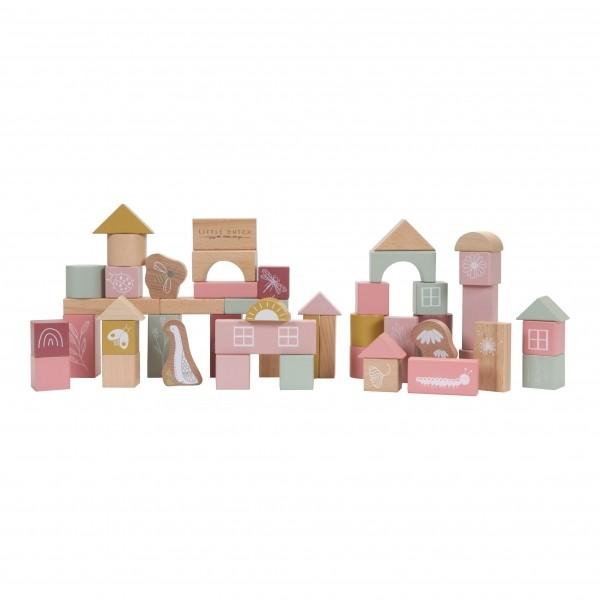 Holzbausteine Pink