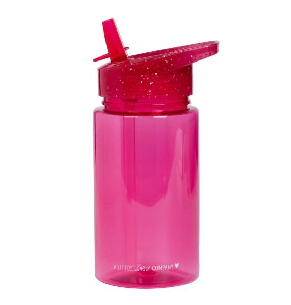Trinkflasche Glitzer Pink