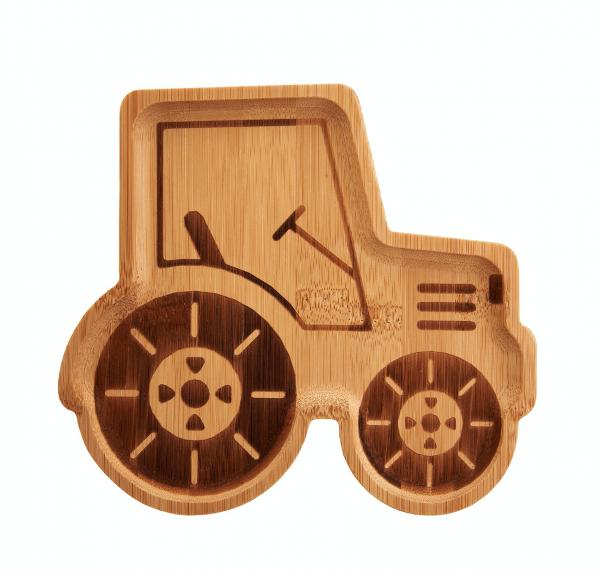 Bambusteller Traktor