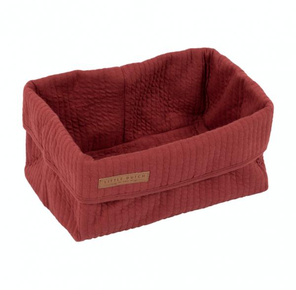 Aufbewahrungs-/Wickeltischkörbchen Pure Red