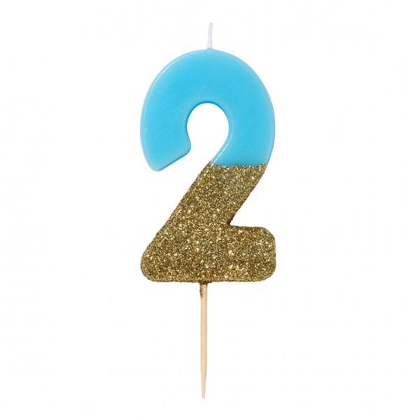 Geburtstagskerze 2 blau