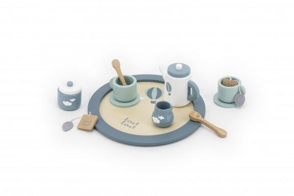 Teeset aus Holz mint