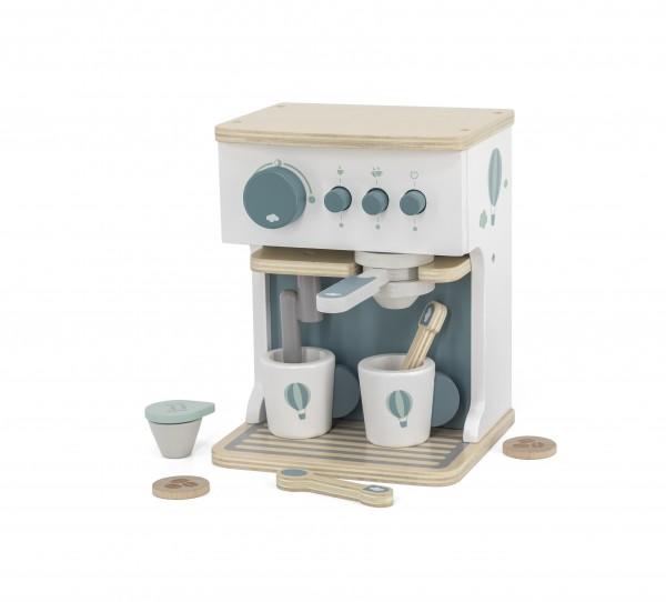 Kaffeemaschine aus Holz mint / personalisierbar